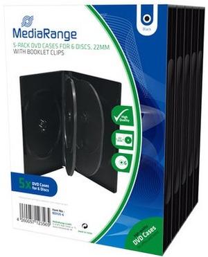 MediaRange DVD Ersatzhüllen, für 6 DVD-Medien, 5 Stück BOX35-6