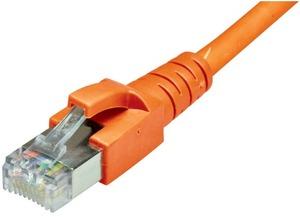 Dätwyler Cabling Solutions Dätwyler Patchkabel: S/FTP, 0.5m, orange C6-SFTP-05-OR