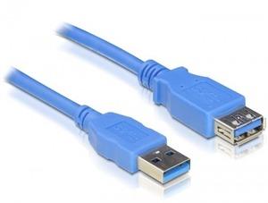 Delock USB3.0 Kabel, 1.0m, A-A, Blau, Verlängerung 82538