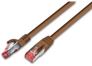 Wirewin Patchkabel: S/FTP, 10m, braun PKW-PIMF-KAT6100BR