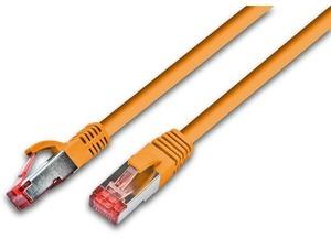 Wirewin Patchkabel: S/FTP 0.25m orange PKW-PIMF-KAT6025OR