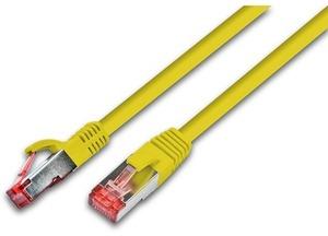 Wirewin Patchkabel: F/UTP, 0.25m, gelb PKW-STP-K5E025GE