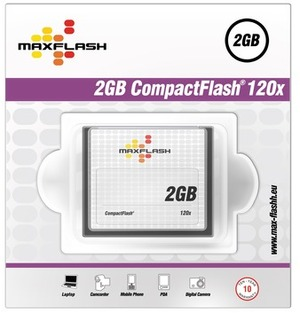 MAXFLASH CF Card 2GB Maxflash, 120x CF2G120M-R