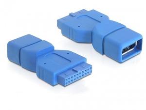 Delock USB3.0 Adapter: A-Buchse zu intern Pfosten 65288