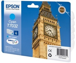 EPSON INK CARTRIDGE L CYAN 0.8K T703240