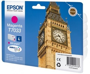 EPSON INK CARTRIDGE L MAGENTA 0.8K T703340