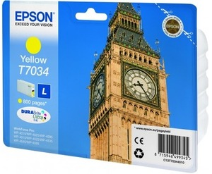 EPSON INK CARTRIDGE L YELLOW 0.8K T703440