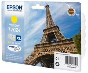 EPSON INK CARTRIDGE XL YELLOW 2K T702440