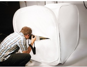 Dörr Aufnahmebox faltbar 120x120cm weiss 373394