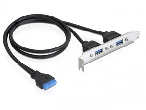 Delock 82963 Slotblech USB 3.0 Pin Header 82963