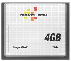MAXFLASH CF Card 4GB Maxflash, 120x CF4G120M-R