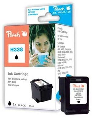PEACH Tinte HP C9365E Nr. 338 black PI300-105