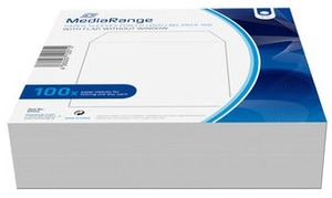 MediaRange CD/DVD Papierhüllen ohne Sichtfenster BOX66