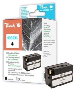 PEACH Peach Tinte HP CN053AE Nr. 932XL black mit Chip 315747