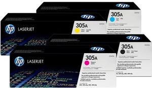 HP Toner-Set bestehend aus je 1x CF370AM + 1x CE410A = 4x 305A (CMYBK) CE410ASet
