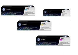 HP Toner-Set bestehend aus 1x CF341A + 1x CE310A = 4x 126A (CMYBK)