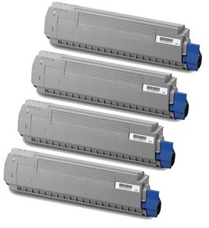 OKI Toner-Set bestehend aus je 1x 44059212, 44059211, 44059210, 44059209 MC860Set