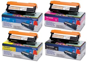 Brother Toner-Set bestehend aus je 1x TN-325BK, TN-325C, TN-325M, TN-325Y TN-325Set