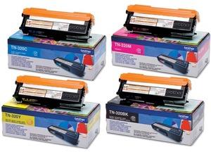 Brother Toner-Set bestehend aus je 1x TN-320BK, TN-320C, TN-320M, TN-320Y TN-320Set
