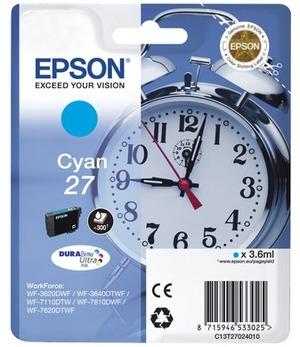 EPSON Epson Ink DuraBrite, Cyan 27 C13T27024010