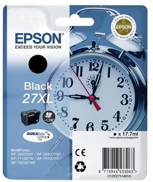 EPSON Ink Cart. C13T27114012 für WF-3620DWF/3620WF/3640DTWF/ 7110DTW/7610DWF/7620DTWF Black XL C13T27114012