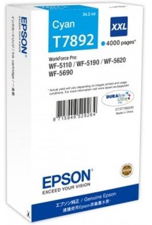 EPSON Tintenpatrone XXL cyan C13T789240