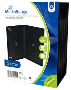 MediaRange DVD Ersatzhüllen, für 2 DVD-Medien, 5 Stück BOX30-2