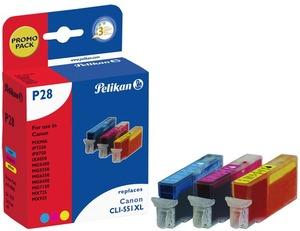 Pelikan Tinte 3 Farben Canon CLI-551XL 4110046