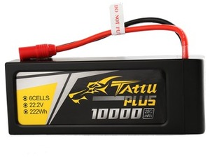 Tattu Plus LiPo-Akku 22.2V 10000mAh 25C TA-PLUS-25C-10000-6S1P