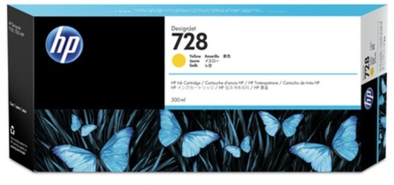 HP 728 300-ml Gelb Tintenpatrone F9K15A