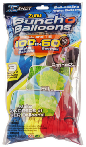 ZURU Bunch O Balloons - Rapid Fill 3PK-Foilbag (100 Ballons) ZURU1213Q
