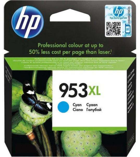 HP 953 XL Tintenpatrone Cyan 1.600 Seiten F6U16AE