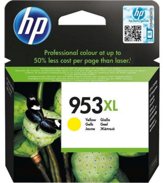 HP 953 XL Tintenpatrone Gelb 1.600 Seiten F6U18AE