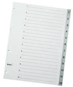 Biella Register PP grau A4 47141200