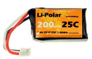 Li-Polar LiPo-Akku 7.4V 200mAh, 25C, Molex LPAA900203