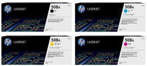 HP Toner-Set bestehend aus je 1x CF360A, CF361A, CF362A, CF363A = 4x 508A (CMYBK)