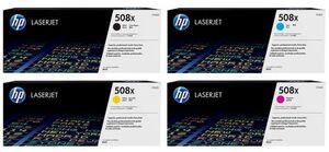 HP Toner-Set bestehend aus je 1x CF360X, CF361X, CF362X und CF363X = 4x 508X CF360XSet