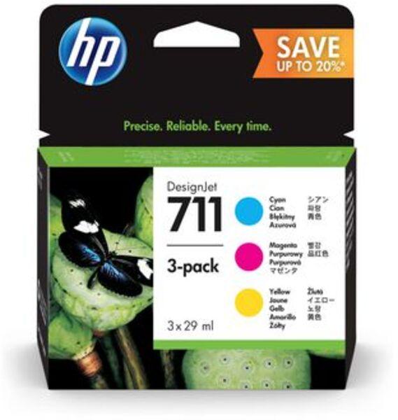 HP Tintenpatrone 711 CMY P2V32A