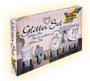 folia Glitterset Pulver gold/silber 57806
