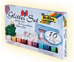 folia Glitterset Pulver bunt 57807