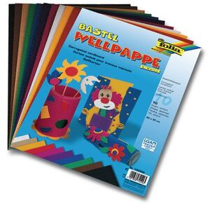 folia Wellpappe 10-farbig sortiert 740409