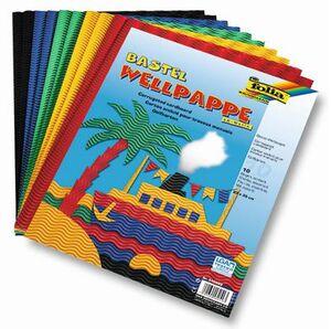 folia Wellpappe 3D 10-farbig sortiert 940409