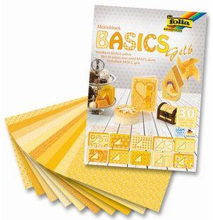 folia Motivblock Basics gelb 46149