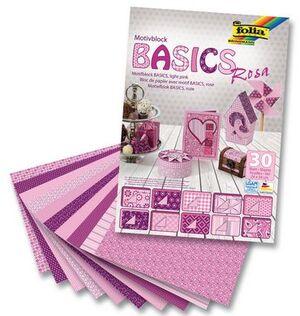folia Motivblock Basics rosa 46349
