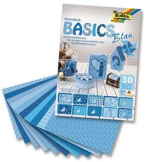 folia Motivblock Basics blau 46449