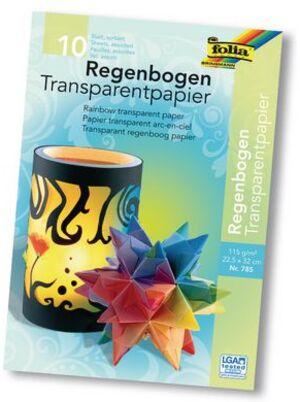 folia Transparentpapier Regenbogen 785