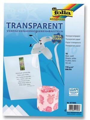 folia Transparentpapier extra stark weiss 87400