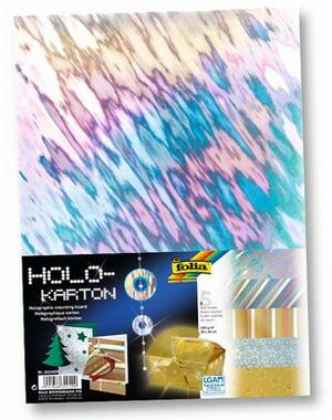folia Holographischer Karton sortiert 300409A1
