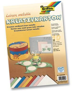 folia Kreativkarton Leinen 5052309