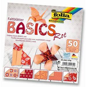 folia Faltblätter Basics rot 4621515